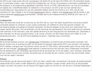 artikel Donkervoort D8 GTO